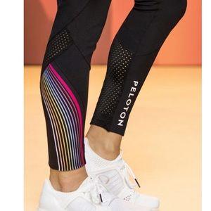 RARE Peloton 925 Split Skydancer Rainbow Leggings